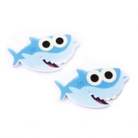 5 x 40MM BABY SHARK LASER CUT FLAT BACK RESIN HAIR BOWS HEADBANDS PLAQUES CRAFTS